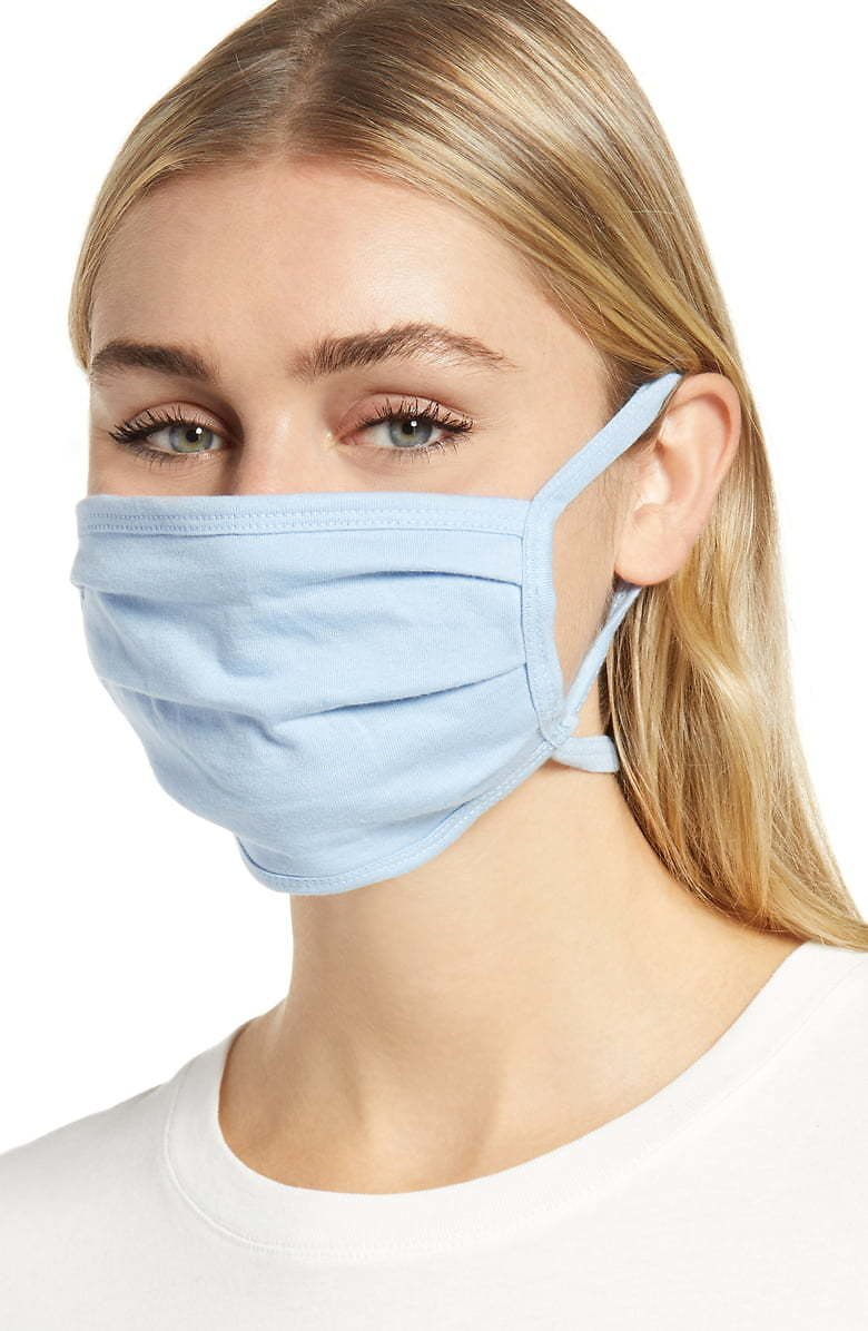 Nordstrom Adult Pleated Face Masks 4-Pack