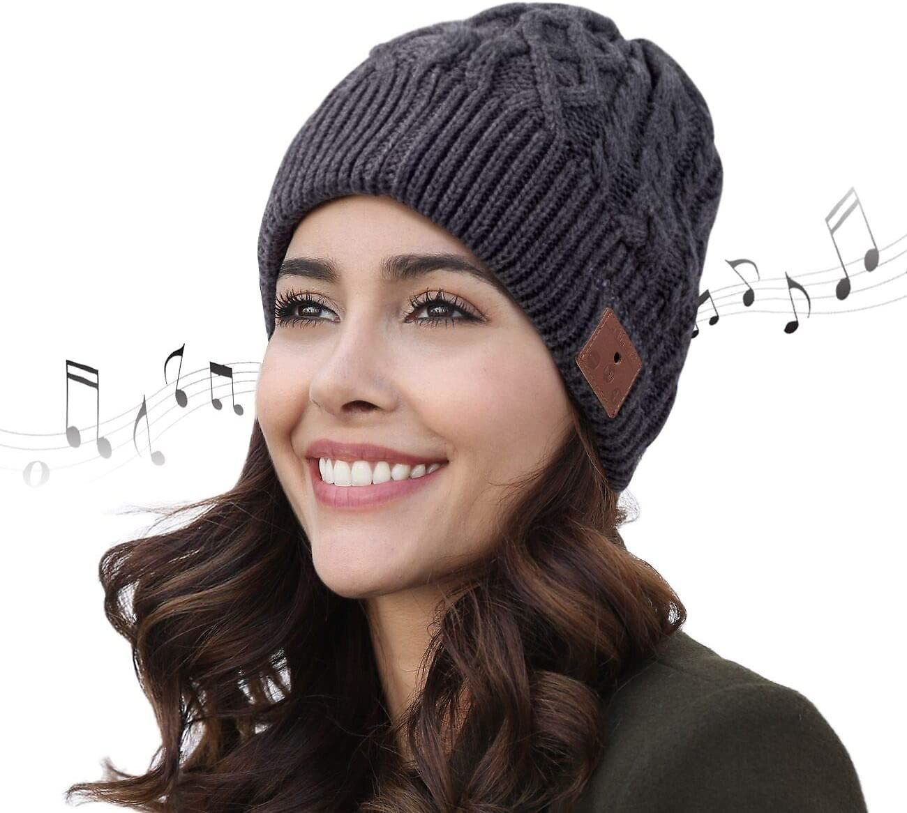 BULYPAZY Bluetooth Beanie Upgraded Version 5.0, Bluetooth Hat for Men with Double Fleece Lined, Mic and HD Speakers, Unique Gift