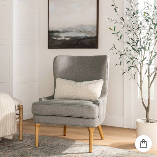 Cheswold Wingback Chair (4 Colors)