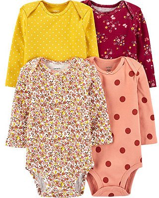 Carter's Baby Girls 4-Pack Floral Original Bodysuits & Reviews - Sets & Outfits - Kids