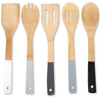 Core Home Greyscale Bamboo 5-Pc. Kitchen Utensil Set & Reviews - Home