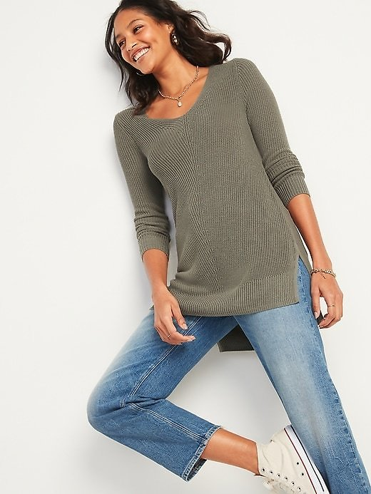 Textured V-Neck Sweater Tunic for Women | Old Navy