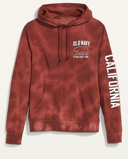 Tie-Dyed Logo Graphic Pullover Hoodie for Men   Old Navy
