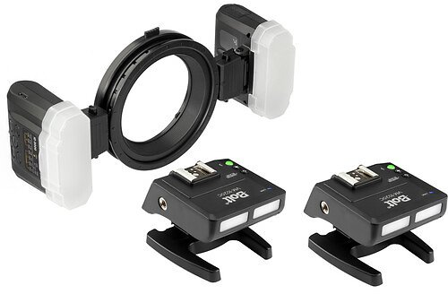 Bolt TTL Macro Ring Flash with Transceiver Set for Canon with Additional Transceiver