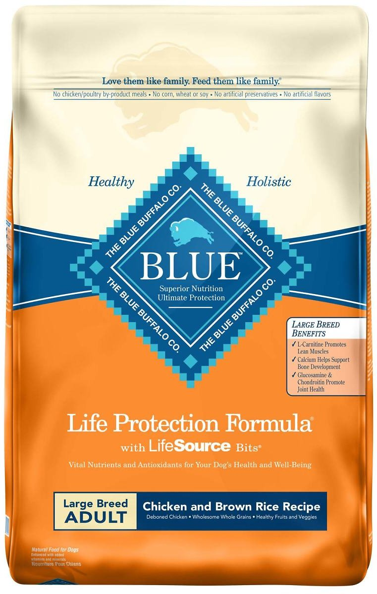Blue Buffalo Life Protection Formula Natural Adult Large Breed Chicken and Brown Rice Dry Dog Food, 30 Lbs.   Petco