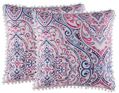 Isaac Mizrahi Home Natalia Square Throw Pillows (Set of 2) | Bed Bath & Beyond