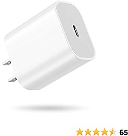 ANBURT 20W USB C Fast Charger PD 3.0 Wall Charger Power Adapter Plug for IPhone 12/12 Mini/12 Pro Max, IPhone SE, IPhone 11/11 Pro/11 Pro Max/X/XS/XS Max/XR, IPad, Airpods