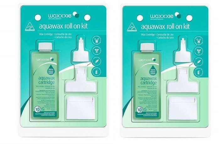 Waxxxie Aquawax Roll and Wax Home Hair Removal (2-Pack)