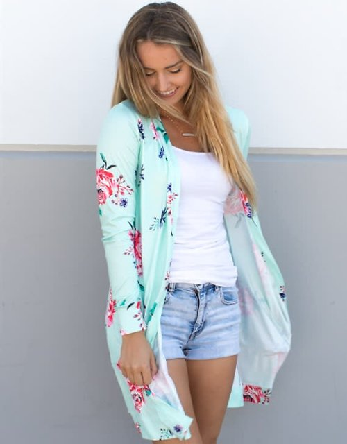55% Off Long Sleeve Floral Cardigan (4 Colors) + F/S