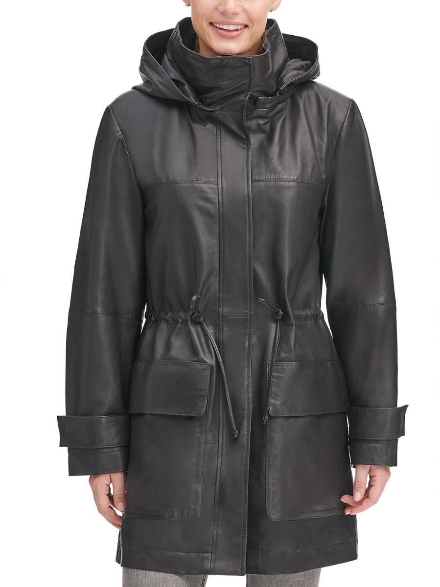 Vintage Hooded Leather Anorak - Wilsons Leather