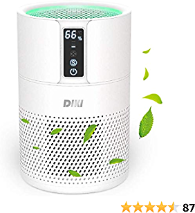 DIKI HEPA Air Purifier for Large Home Up to 270 Ft2, True H13 Filter 100% Ozone Free, Remove 99.97% of Pollen, Pet Dander, Smoke Odors, Dust and Other Particles(Available for CA)