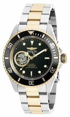 Invicta 20438 Gent's Automatic Black Dial Two Tone Steel Watch 886678252633