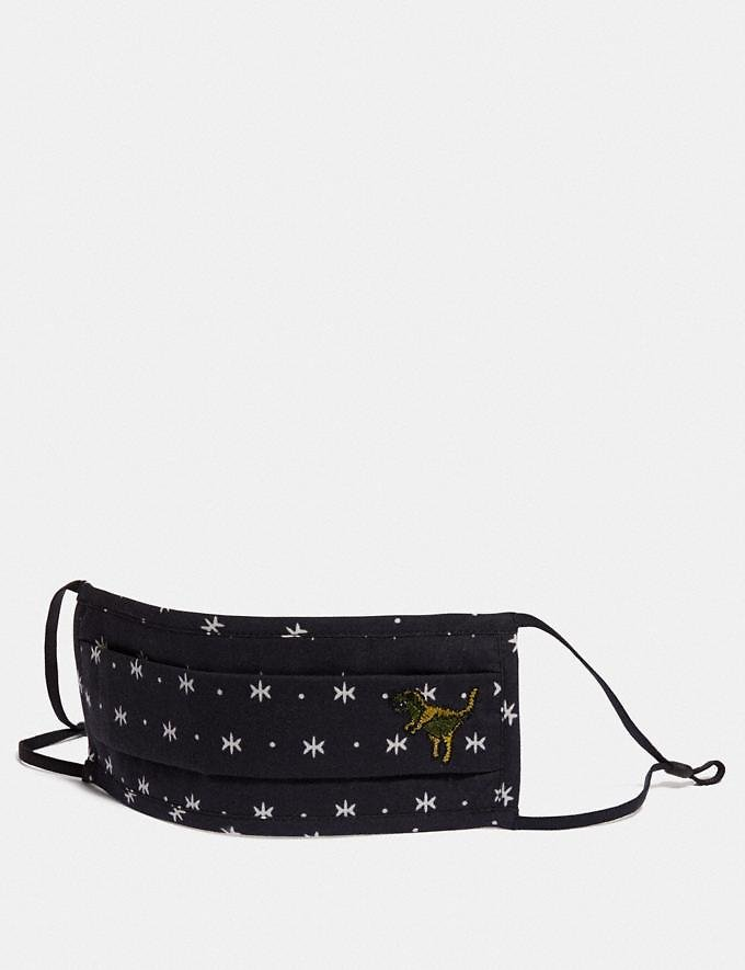 Rexy Face Mask with Star Dot Print