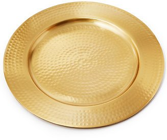 Martha Stewart Collection Exotic Escape Hammered Metal Charger, Created for Macy's & Reviews - Dinnerware - Dining