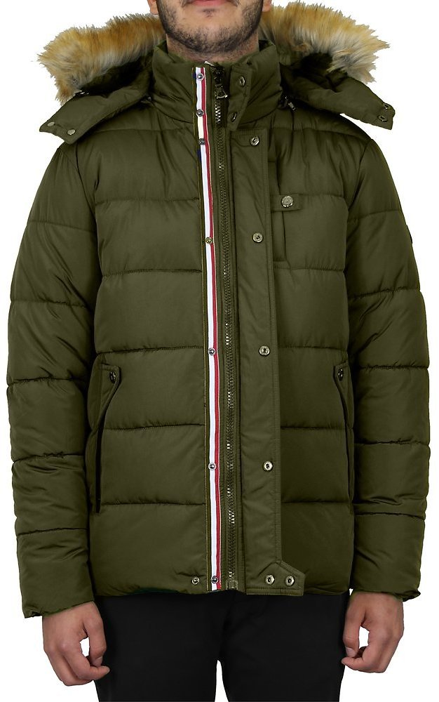 GBH Men's Heavyweight Bomber Parka Zip Jacket With Detachable Hood