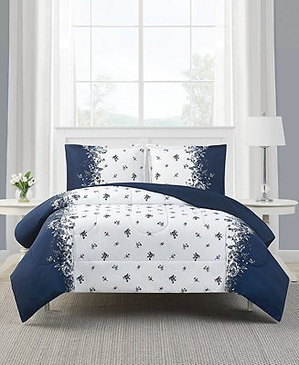 Mytex Toile Stripe 2-Pc. Reversible Twin Comforter Set, Created for Macy's & Reviews - Bed in a Bag - Bed & Bath
