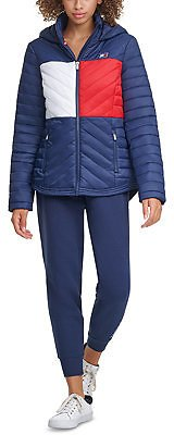 Tommy Hilfiger Colorblocked Puffer Jacket & Reviews - Coats - Women