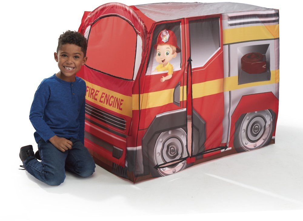 Playhut - Fire Engine EZ Vehicle Pop-Up Play Tent – Easy Pop-Up and Fold Down with Multiple Doors and Windows, High Quality Durable Materials