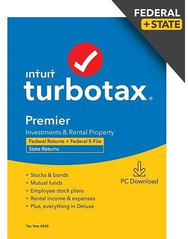 TurboTax Premier 2020 Desktop Tax Software, Federal and State Returns + Federal E-file (State E-file Additional) [PC Windows Download] - Newegg.com