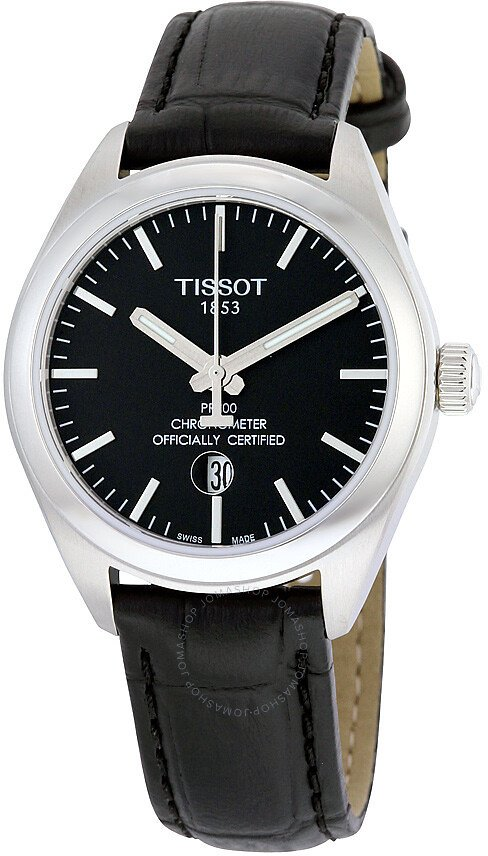 Tissot PR 100 Chronometer Black Dial Ladies Watch T101.251.16.051.00