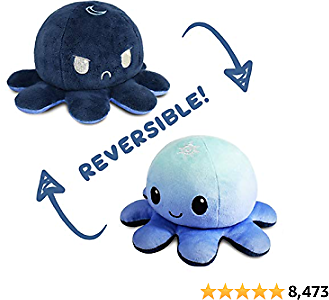 The Original Reversible Octopus Plushie   TeeTurtle's Patented Design   Day and Night   Show Your Mood Without Saying a Word!