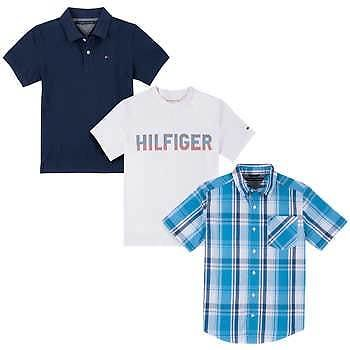 Tommy Hilfiger Youth 3-pack Tops (Navy) + Free Shipping