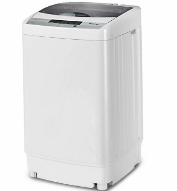 Gymax Gymax Portable Compact Washing Machine 1.34 Cu.ft Spin Washer Drain Pump 8 Water Level