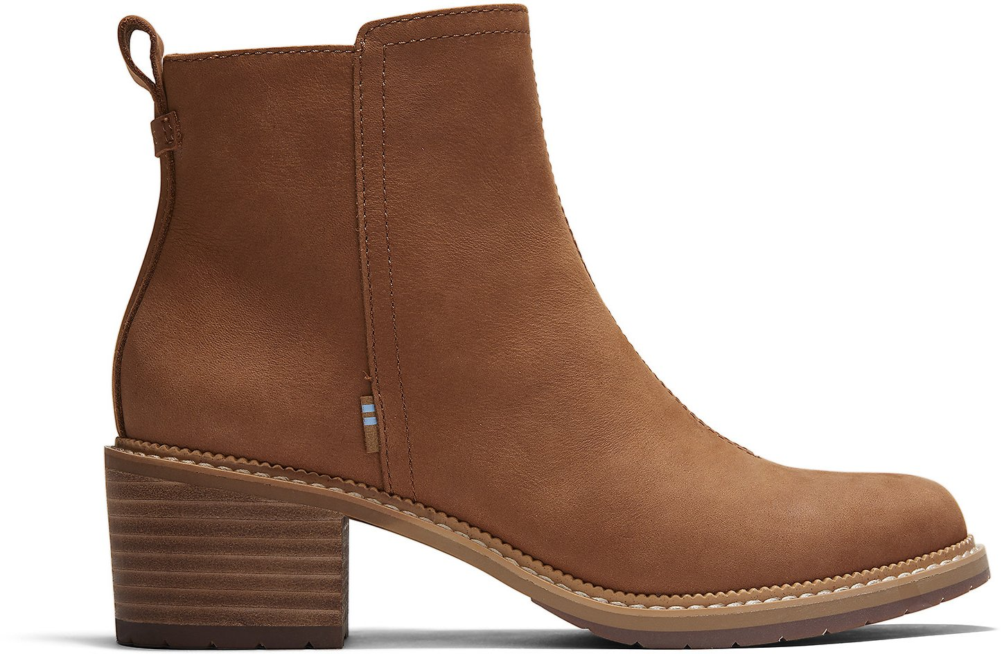 Tan Smooth Waxy Leather Women's Marina Booties | TOMS