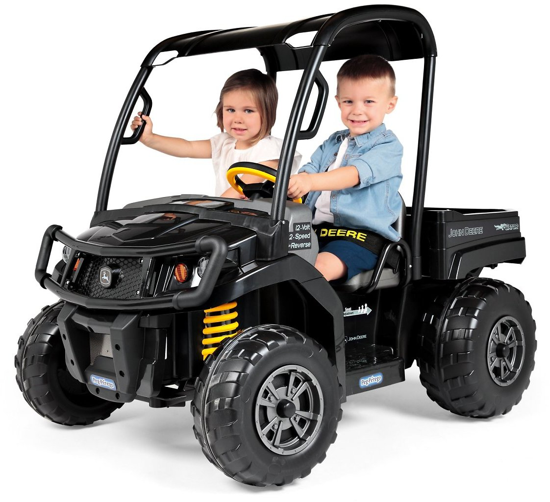 Peg Perego John Deere Gator XUV Midnight Black, 12-Volt Battery-Powered Ride-On