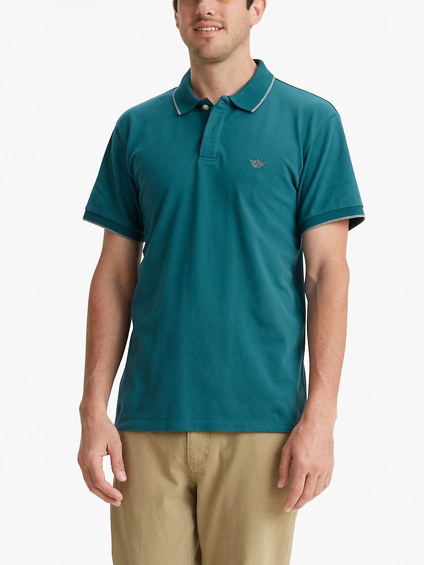 Mens Casual Comfort Performance Polo