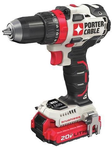Porter-Cable PCCK607LBR 20V MAX Brushless Lithium-Ion 1/2 In. Cordless Drill Driver Kit (1.5 Ah)