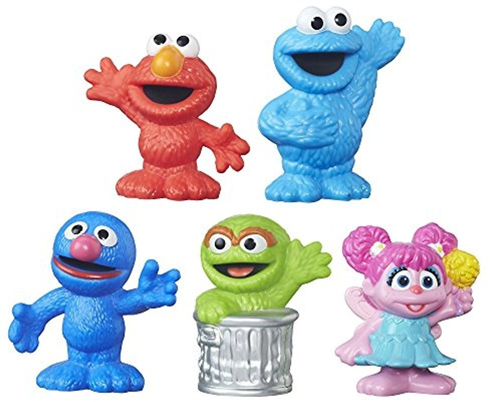 Sesame Street Playskool Friends Sesame Street Collector Pack 5 Figures, 2.75 Inches Each