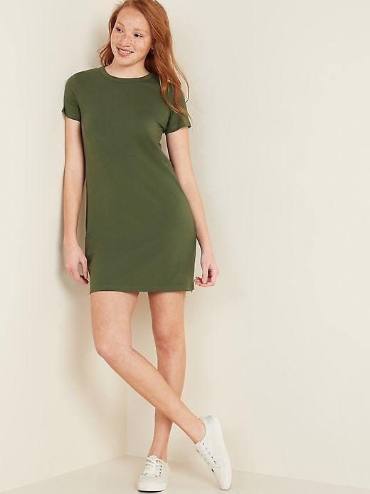 Fitted Crew-Neck Tee Dress for Women | Old Navy