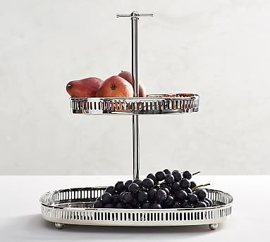 Harrison Stainless Steel Tiered Stand