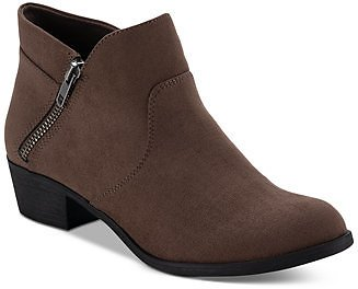 Sun + Stone Abby Double Zip Booties, Created for Macy's & Reviews - Boots - Shoes