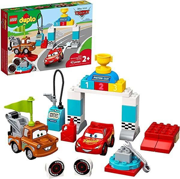 LEGO DUPLO Disney and Pixar Cars Lightning McQueen's Race Day 10924, New 2020 (42 Pieces)