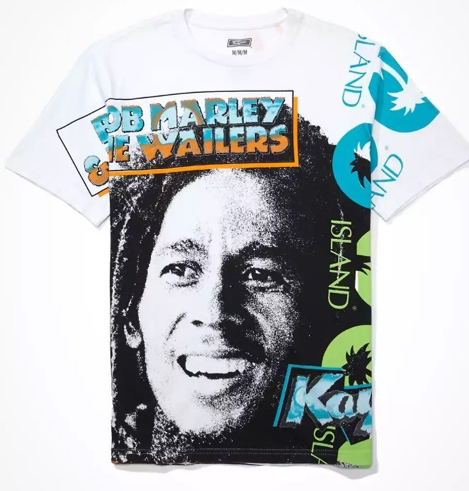 Men's Bob Marley Graphic Tee - Multi
