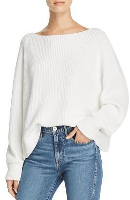 FRENCH CONNECTION Millie Mozart Knits Cotton Boat Neck Sweater Women - Bloomingdale's