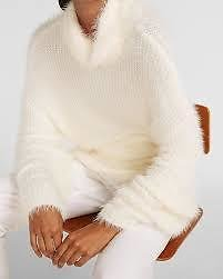 $30 Fuzzy Faux-Fur Cowl Neck Sweater (3 Colors) + More