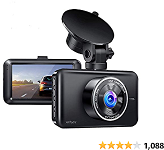 Ainhyzic Dash Cam for Cars 1080P Full HD Car Driving Recorder 3-Inch LCD Screen with Super Night Vision, 170° Wide Angle, Loop Recording, WDR, G-Sensor, Parking Monitor, Motion Detection