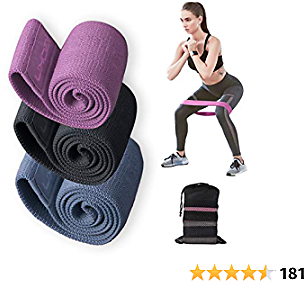 IGOKU Resistance Bands for Legs and Butt, Fabric Workout Exercise Band Set, Women/Men Stretch