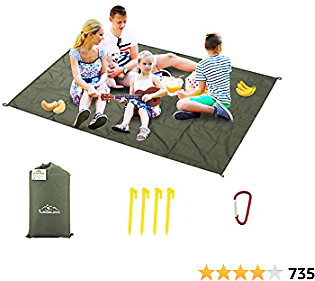 Likorlove Outdoor Picnic Waterproof Blanket 80