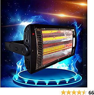 Indoor Space Heater Large Room,Office Wall Heater, Low Power Consumption, Portable,25W/750W/1500W(Black,1-Pack)