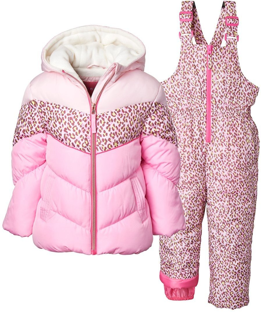 Love This Product Pink Leopard Puffer Coat & Pink Leopard Bib Pants - Toddler