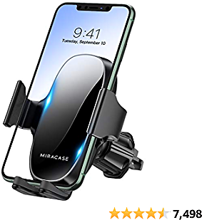 【Upgraded Version】 Miracase Car Phone Mount, Air Vent Cell Phone Holder for Car, Universal Car Phone Holder Cradle Compatible with IPhone 12 Pro Max/11/11 Pro/11 Pro Max/XR/Xs/8/7,S10+ and More
