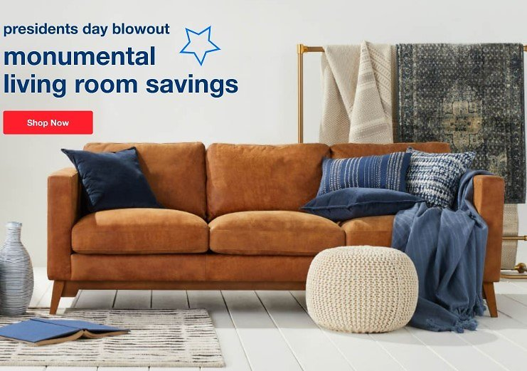 Up to 70% Off Presidents Day Monumental Living Room Furniture