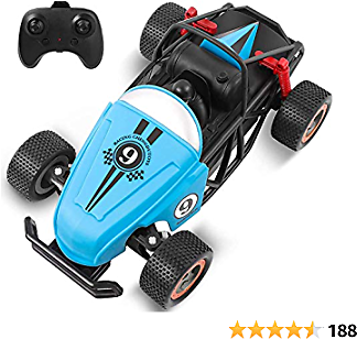 Remote Control Car for Boys, Rabing Racing RC Car 2.4GHz Electric 1/20 Scale High-Speed Race Vehicle Hobby Car RC Toy Car for Kids and Adults, Birthday Gift