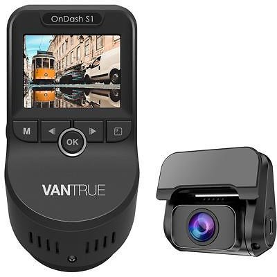(NEW)Vantrue S1 4k Dash Cam, Dual 1080P Front and Rear Dash Camera with GPS, Support 256GB Max, Near 360° Wide Angle, Capacitor, Sony Night Vision, 24 Hours Parking Mode, Motion Sensor, Loop Recordin
