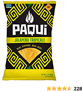 Paqui Tortilla Chips, Gluten Free Chips, Non-Gmo, Flavored, Jalepeno Tropicale, 7 Oz, Pack Of 5
