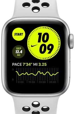 Apple Watch Nike Series 6 (GPS + Cellular) with Nike Sport Band 40mm Silver Aluminum Case. Nike.com